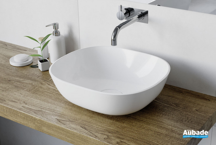 Vasque à poser Marine coloris blanc brillant de Aubade Création