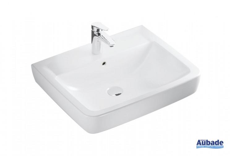 Lavabo Square Clivia en céramique blanc de Vigour