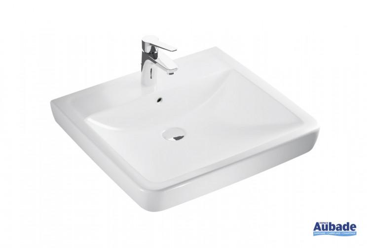 Lavabo Square Plus Clivia en céramique blanc de la marque Vigour