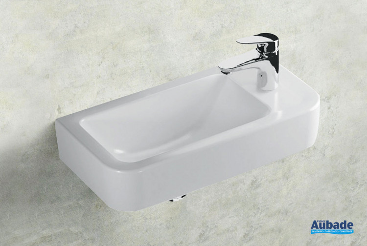 Lave-mains Clivia en céramique blanc par Vigour