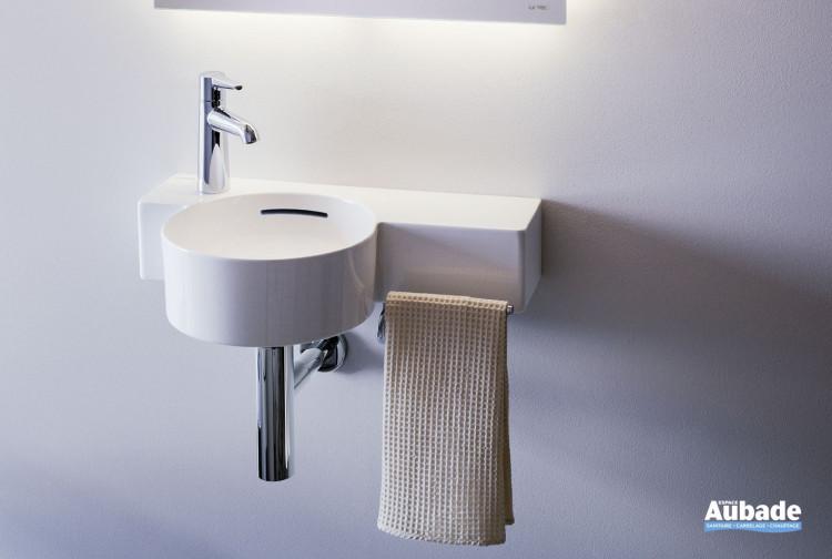 Lave-mains Val avec barre porte-serviettes de la marque Laufen
