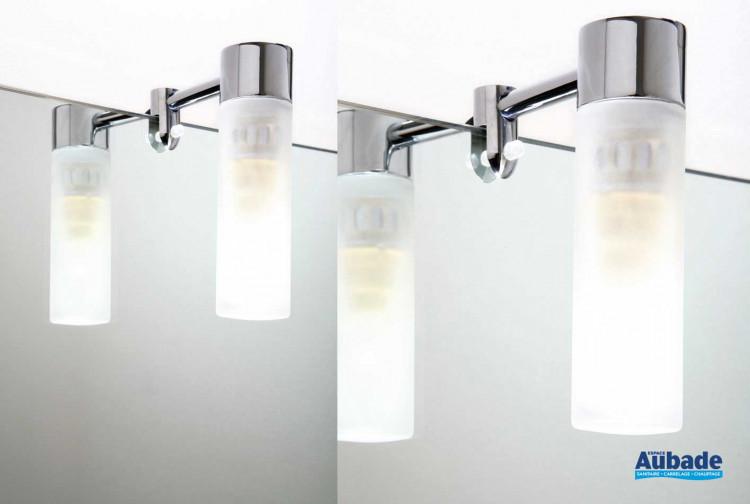 Applique tube pour miroir de salle de bain aric inos espace aubade