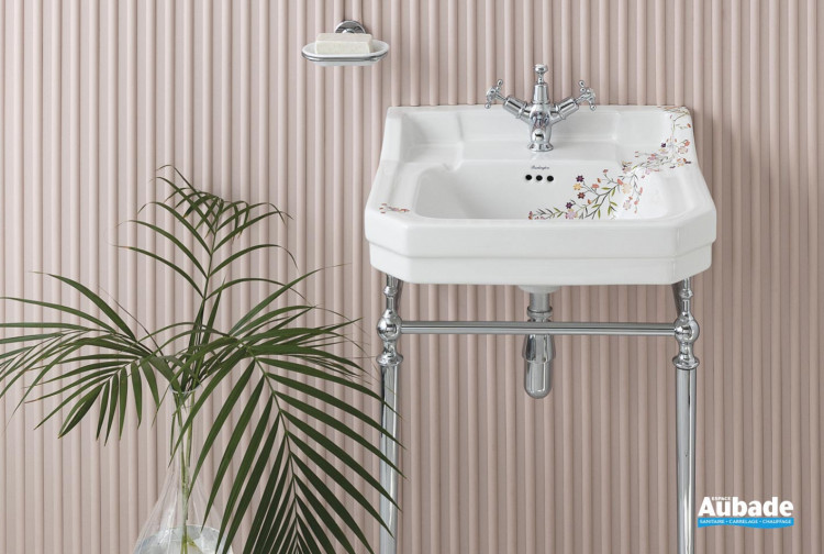 meuble salle de bain burlington retro floral