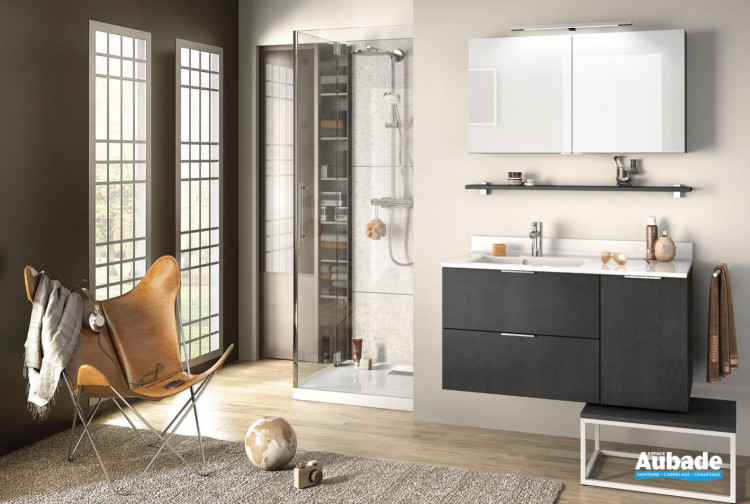 meuble salle de bains delpha delphy evolution105 beton anthracite