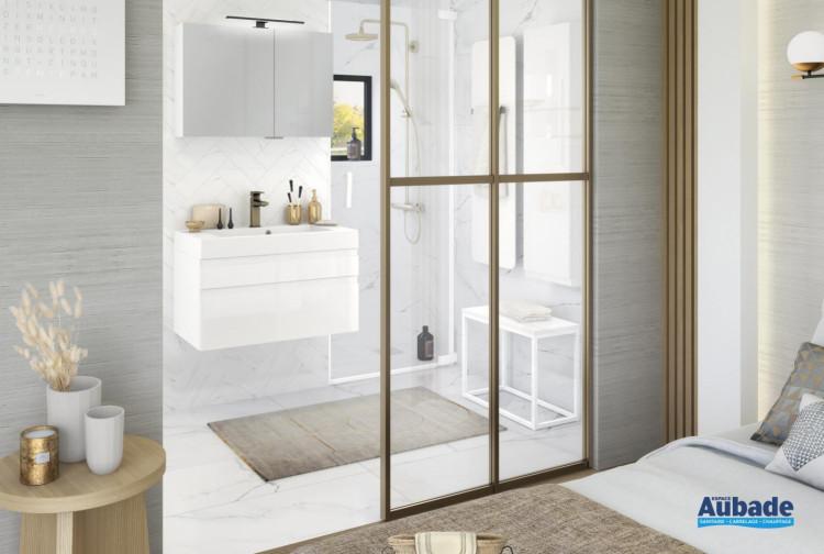 meuble salle de baindelphy inspiration80 capture blanc brillant de delpha