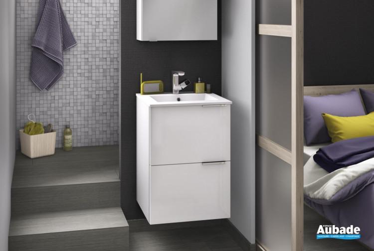 meuble salle de bain delpha delphy kub50 blanc