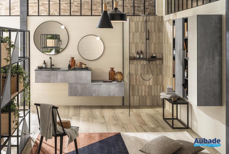 meuble salle de bain delpha unique archi beton fonce structure