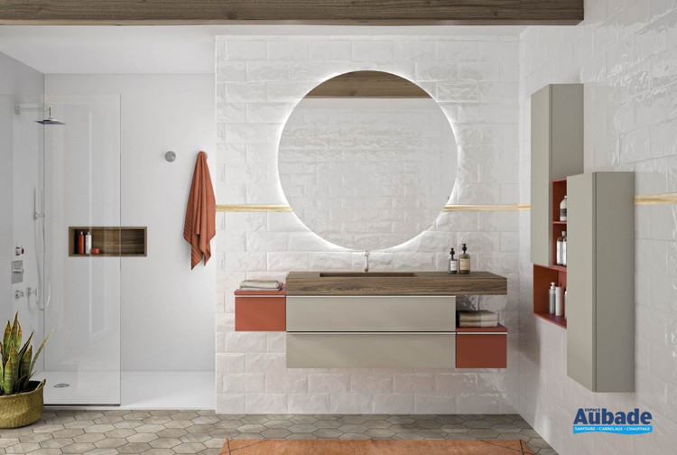 Meuble de salle de bains Extenso Natura 160 cm de Cedam