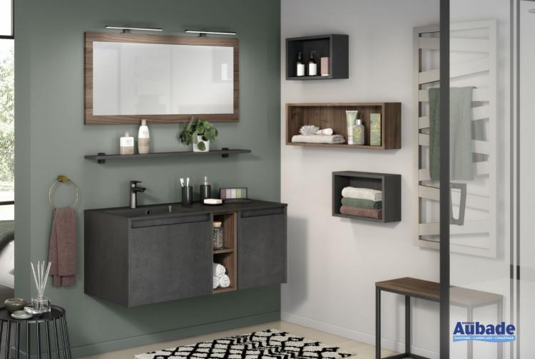 meuble salle de bains delpha d-motion affleurant largeur 120 beton anthracite structure