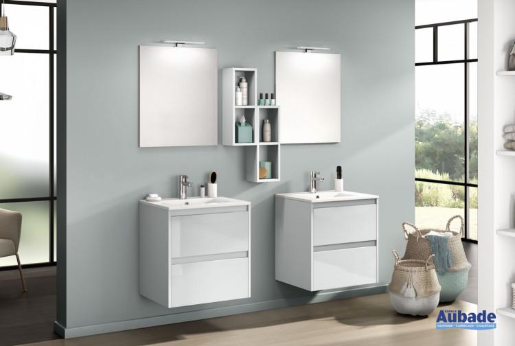 meuble salle de bains delpha d-motion affleurant largeur 60x2 gris nuage brillant