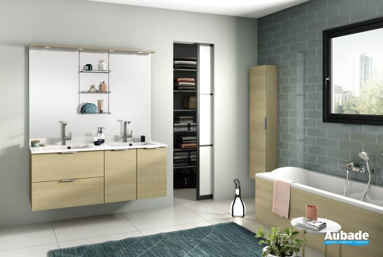 Meuble de salle de bains Evolution 140 Alba Chêne Doré Structuré 1