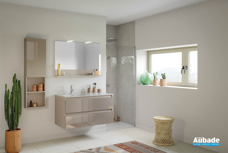 Meuble de salle de bains Intuitive 100 Grège de Delpha 1