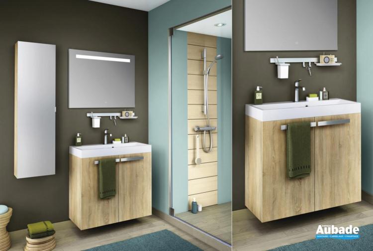 meuble salle de bains delpha delphy studio80 chene scie clair
