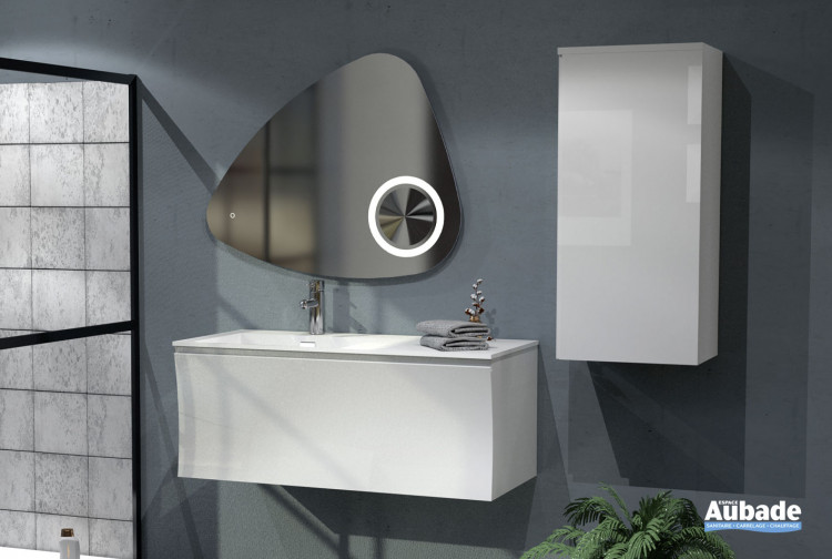 Meuble de salle de bains Way coloris blanc brillant de la marque Lido