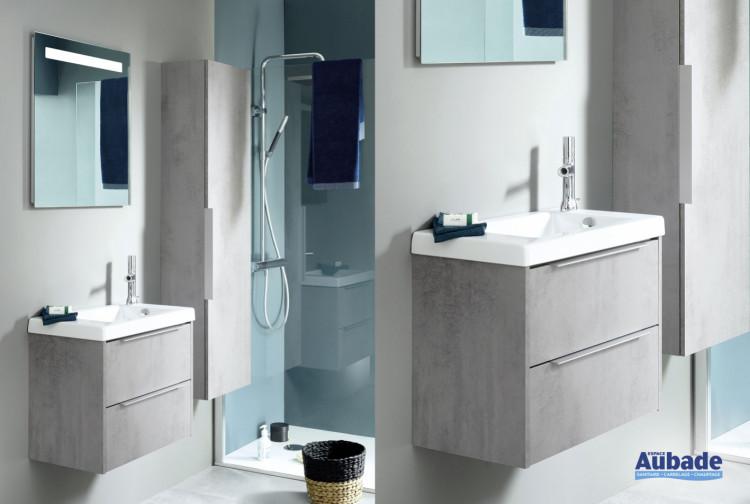 Meuble de salle de bain XS melamine beton gris de Sanijura