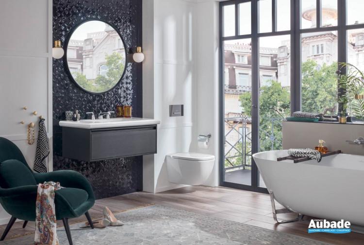 meuble salle de bains villeroy et boch antheus black