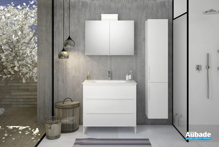 Meuble de salle de bains style 2 avec 3 niveaux de la marque Burgbad