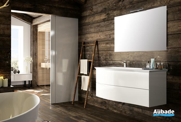 Meuble de salle de bains Twist coloris blanc brillant de Cedam