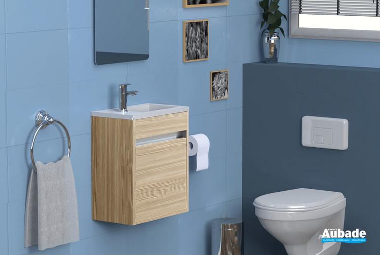 Meuble lave-mains Abyss coloris frêne de la marque Lido
