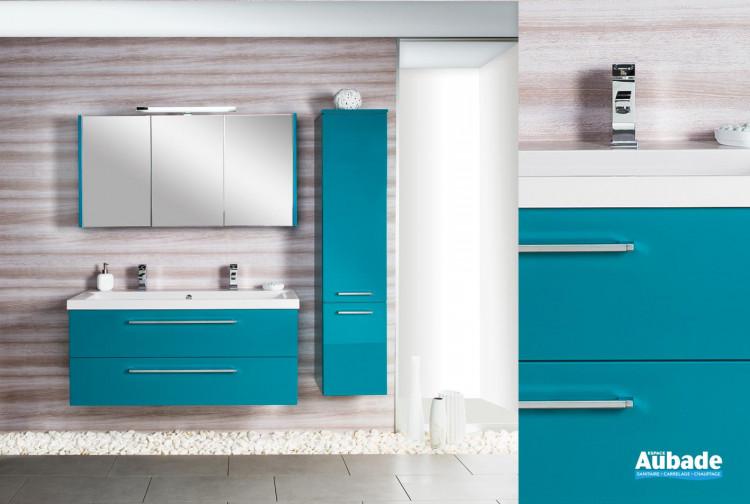 Meubles salle de bains turquoise Cedam Gloss | Espace Aubade