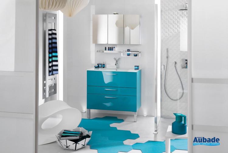 Meuble de salle de bain bleu saphir, ensemble de salle de ...