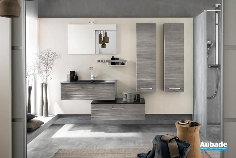 meubles de salle de bains Delpha collection Unique modèle bois 90 cm