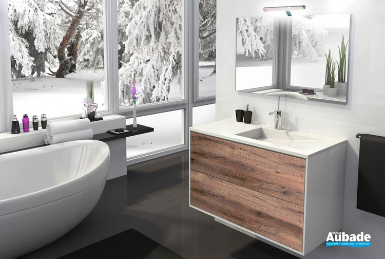 Meuble de salle de bains Epure par Lido