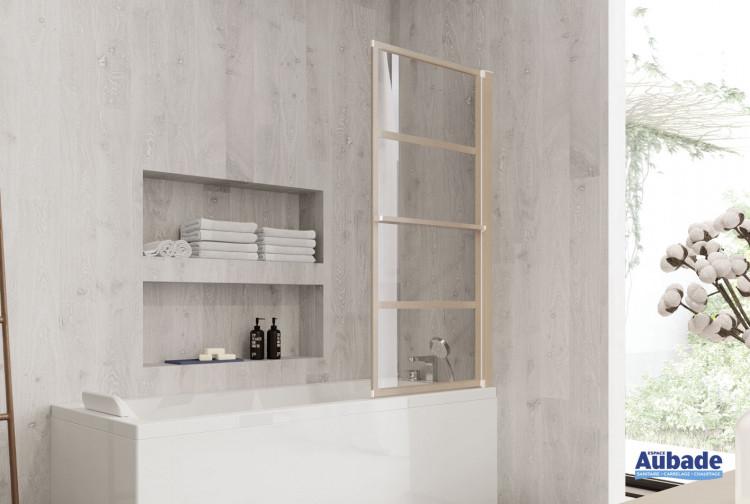 Pare-baignoire Zen-Pur coloris effet bois de Jacuzzi