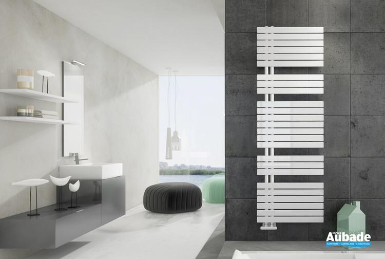 Radiateur sèche-serviettes Drap eau chaude coloris Blanc de la marque Irsap