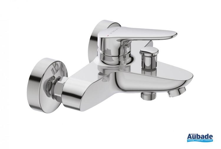 Robinet mitigeur bain douche mural mécanique Clivia chromé de la marque Vigour