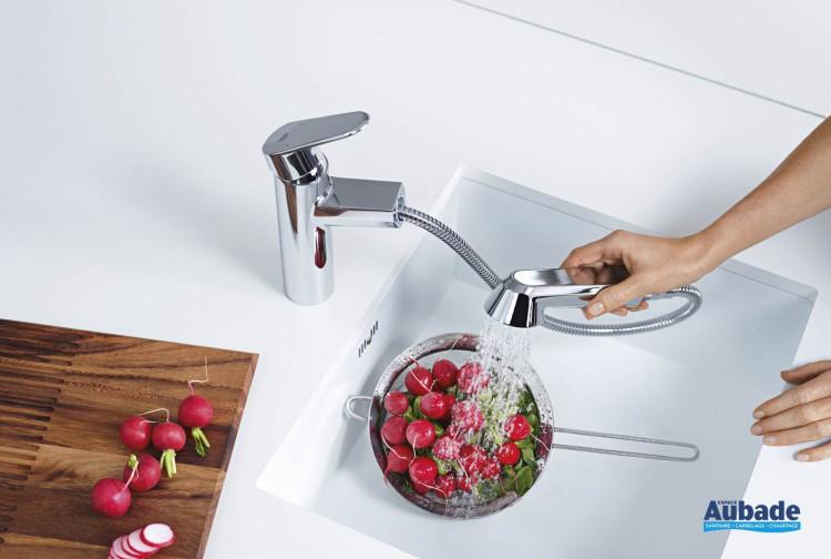 robinets évier de cuisine Grohe Eurodisc Cosmopolitan avec douchette