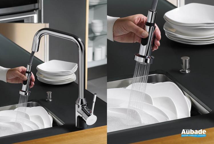 robinets évier de cuisine Ideal Standard Retta mitigeur évier hauteur 420 mm
