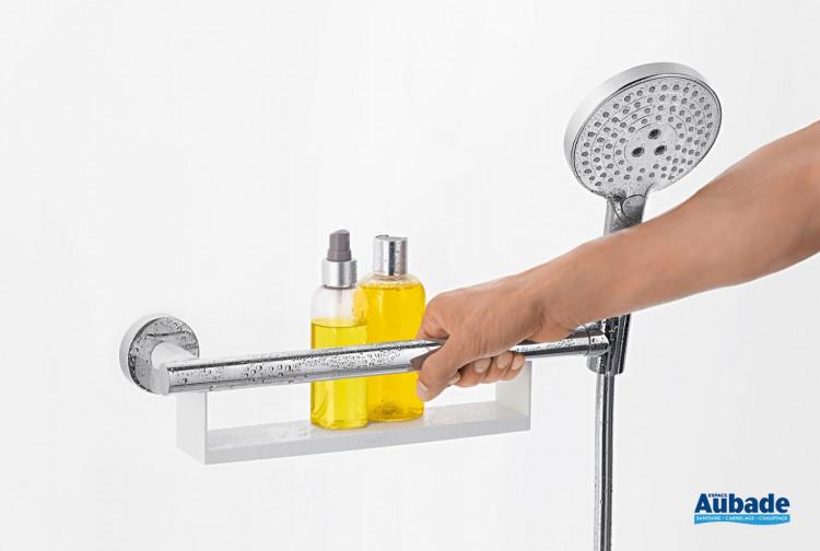 Poignée d'appui avec tablette et support de douchette
