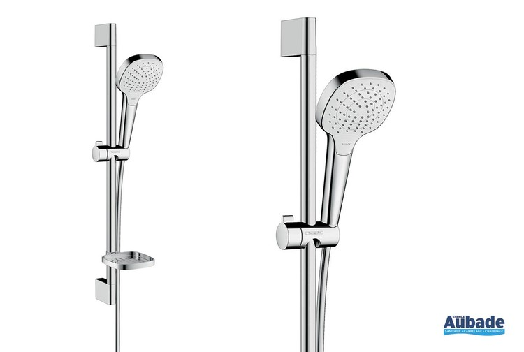 Set de douche blanc/chromé Croma Select E 110 Vario avec porte-savon