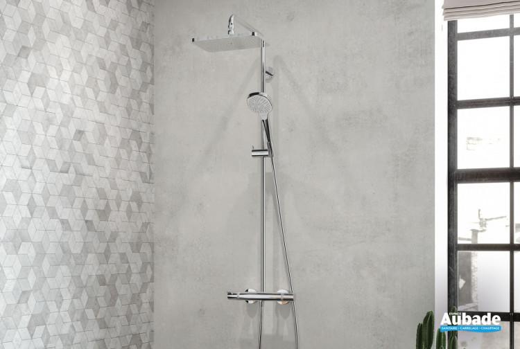 Colonne de douche thermostatique Showerpipe 280 softcube finition chromé par Hansgrohe
