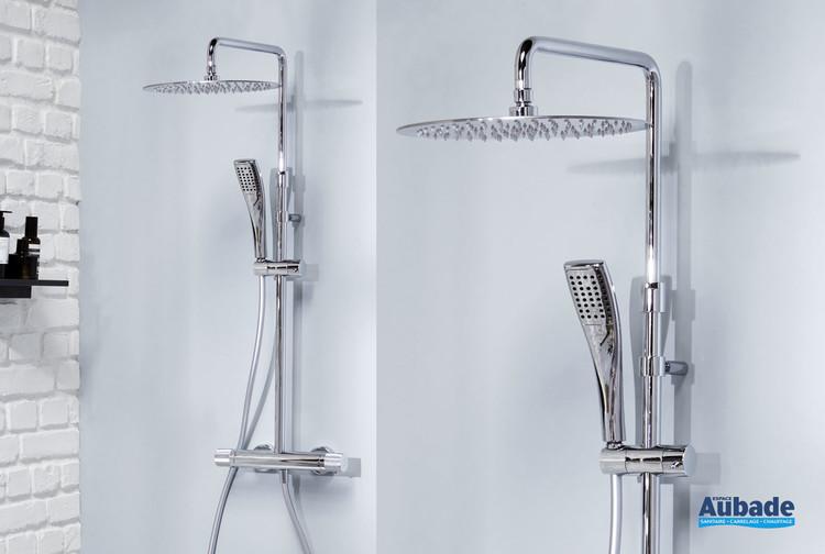 Colonne de douche thermostatique Rivoli finition chromée par Jacob Delafon
