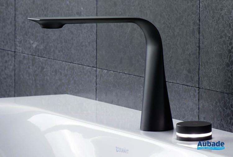 Robinetterie électronique de lavabo 2 trous D1 noir mat de Duravit