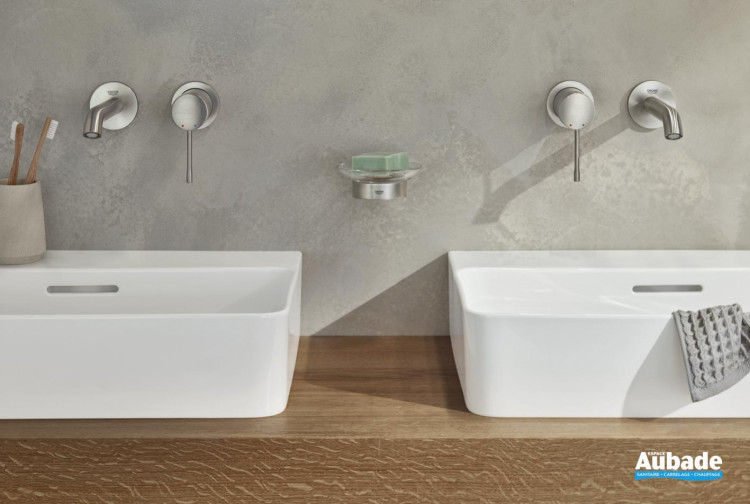 Mitigeur lavabo mural Essence SPA Colors deux trous de Grohe
