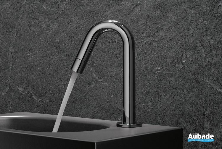 Robinet lave-mains eau froide New Bozz finition chromé de la marque Kludi
