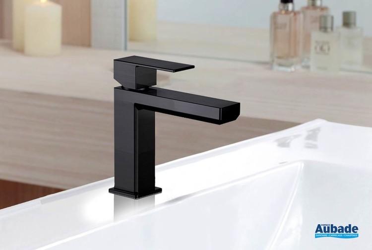Mitigeur lavabo Plaza Black PVD de Païni