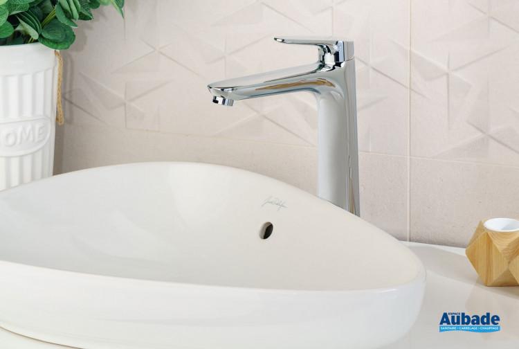 Mitigeur lavabo rehaussé Clivia coloris chromé par Vigour