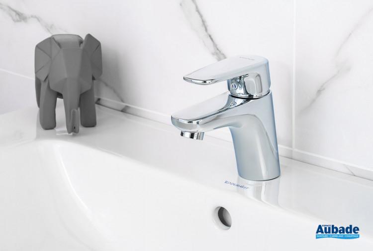 Robinet mitigeur de lavabo bas Derby Style finition chromé par la marque Vigour