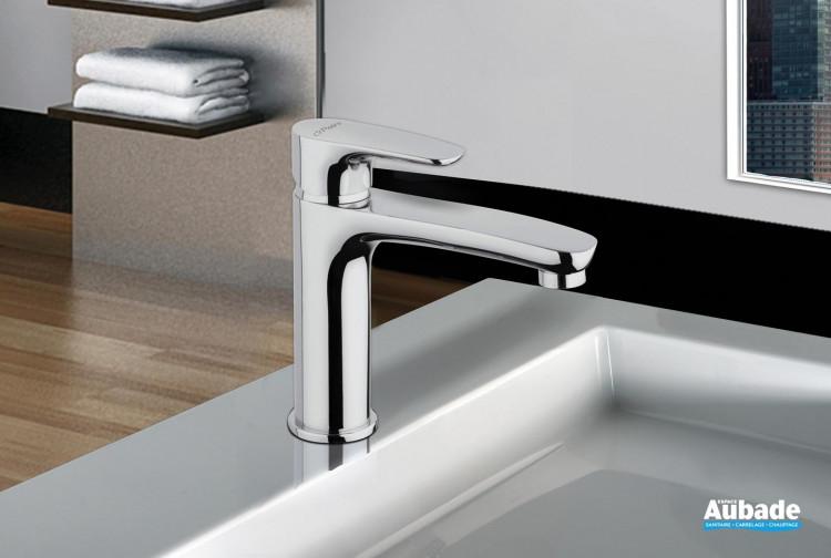 Mitigeur lavabo semi haut Parallèle 2 chromé par Paini Italie