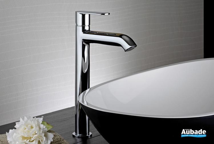 Mitigeur lavabo rehaussé chromé Round de la marque Paini Italie