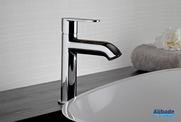 Mitigeur lavabo semi haut Round finition chromée de la marque Paini Italie