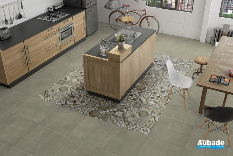 Collection Maxxi Rivet par Tau Ceramica en coloris Tan