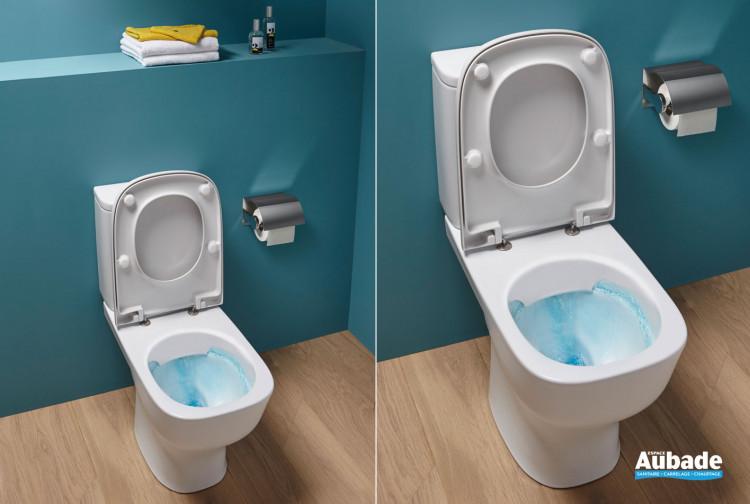 Pack WC au sol Struktura sans bride blanc de Jacob Delafon