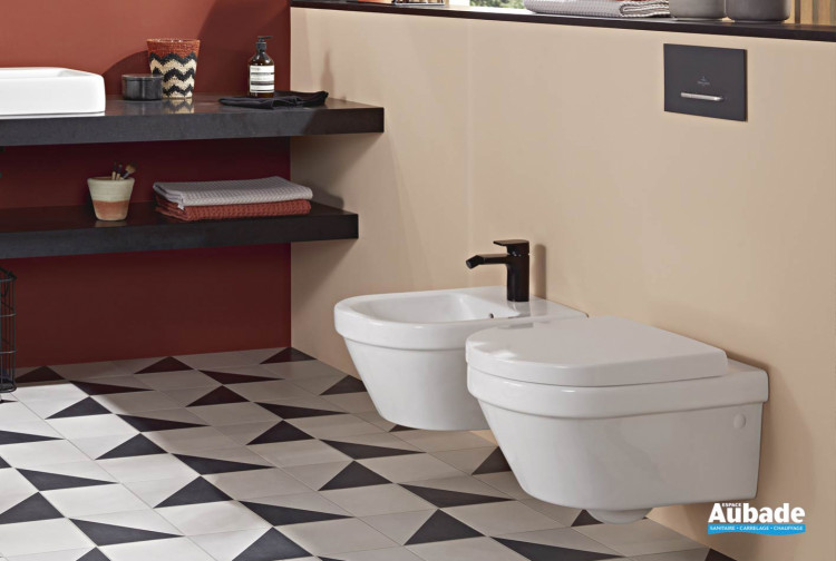Pack WC avec cuvette suspendue carénée sans bride DirectFlush Villeroy & Boch
