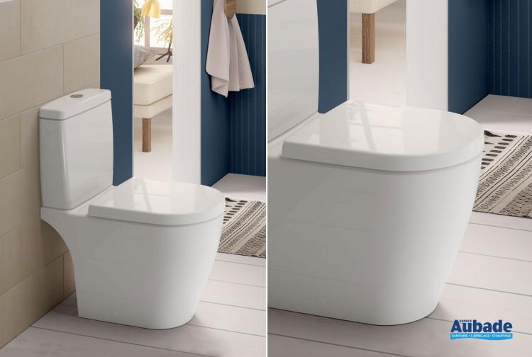 Pack WC cuvette sur pied compacte sans bride DirectFlush