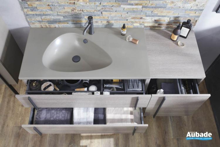 Plan vasque 100 cm autoportant Nouvelle Vague de Jacob Delafon